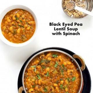 Lentil Black Eyed Pea Soup with Greens.