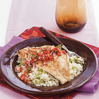 Pan-Seared Grouper with Sweet Ginger Relish.