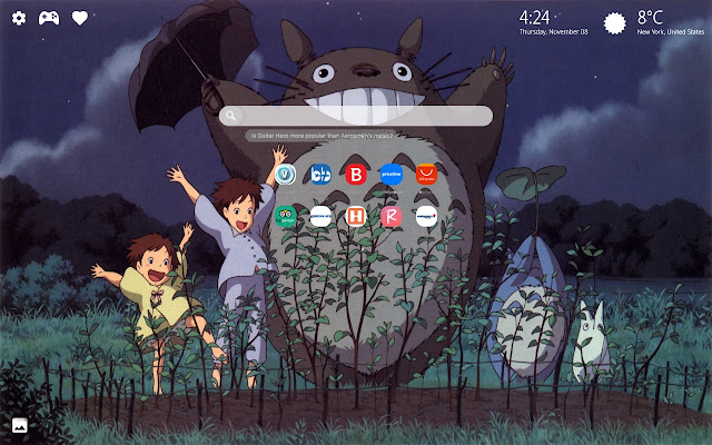 Neighbor Totoro Wallpaper HD New Tab Theme