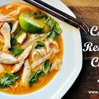 Thai Coconut Red Curry Chicken Soup.