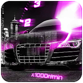 Pink Car Speedometer Theme