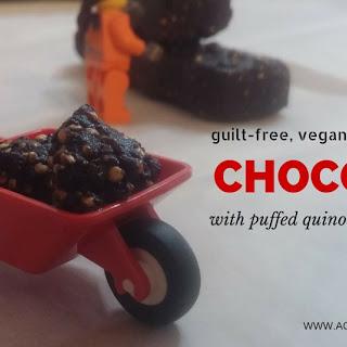 Puffed Quinoa and Peanut Butter Chocolate | Homemade Vegan Chocolate