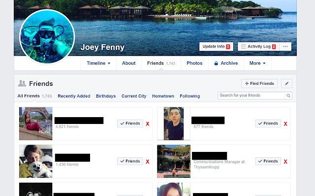 One-Click Unfriender For Facebook