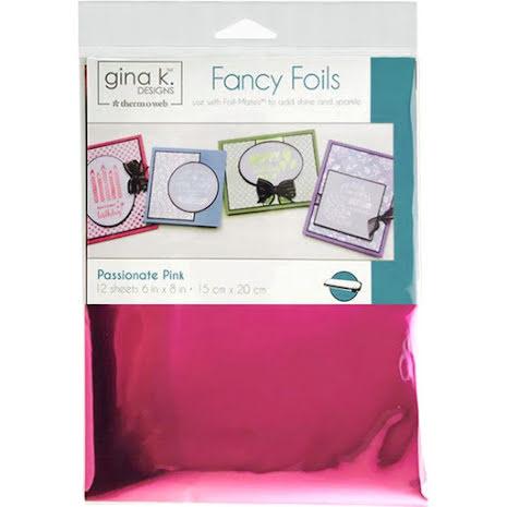 Thermoweb Gina K Designs Deco Foil 6X8 - Passionate Pink