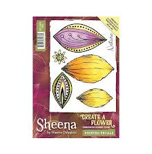 Sheena Douglass Create a Flower A6 Rubber Stamp - Pointed Petals UTGÅENDE