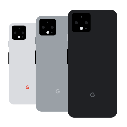An illustration with 3 different colors of one mobile phone
