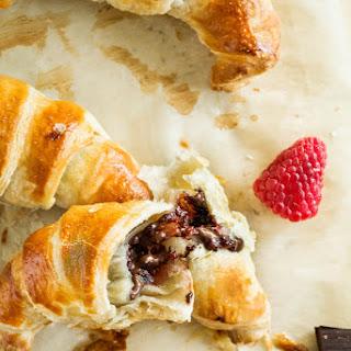 3-Ingredient Chocolate Raspberry Croissants