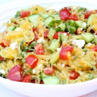 Greek Style Spaghetti Squash Salad