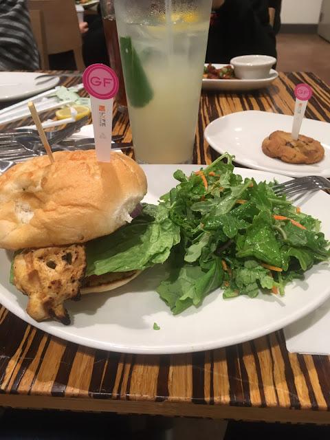 Gf Chicken Avocado Sandwich And Gf Chocolate Chip Cookie Lyfe