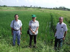Photo: Miquel Socorro, Rena Perez and farmer