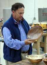 Photo: Stan Welborn shows a nice walnut plate.