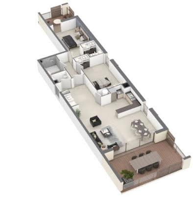 Vente appartement 3 pièces 87,8 m2