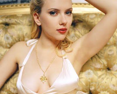 Scarlett Johansson in white bikini