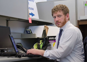 Photo: Klatsky is a graduate student who earned his MBA at SUNY Oswego in May 2012.
