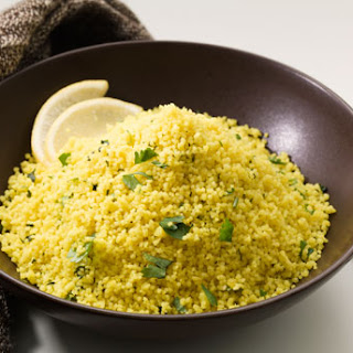 Couscous with Fresh Cilantro and Lemon Juice.