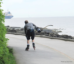 Photo: (Year 2) Day 324 - Following a Skater on the Cycleway and Footpath Around Stanley Park Peninsula