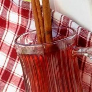 Hot Spiced Cranberry Cider.