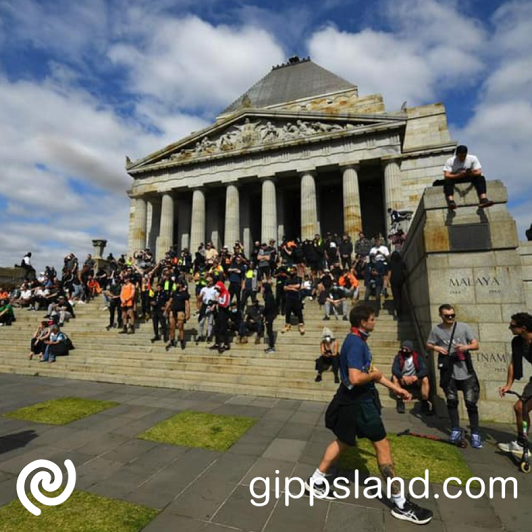 The sacred Shrine of Remembrance is a memorial for the past and present servicemen who risked their lives for our nation, the actions of the protesters was a disrespect to those who served our country