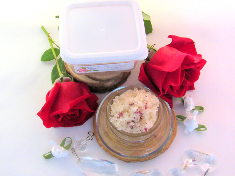Red Rose Petal Sugar Scrub Body Polish - 2 Oz