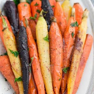 Honey Herb Roasted Carrots.