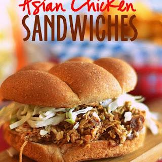Asian Chicken Sandwiches.