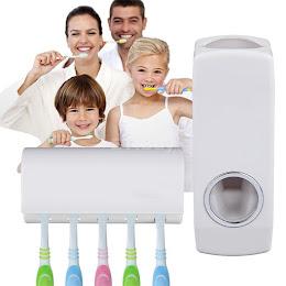 Dozator pasta de dinti cu suport pentru 5 periute
