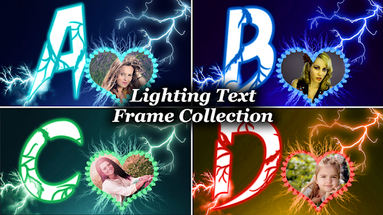 Lighting Text Frames Photo Editor- screenshot thumbnail