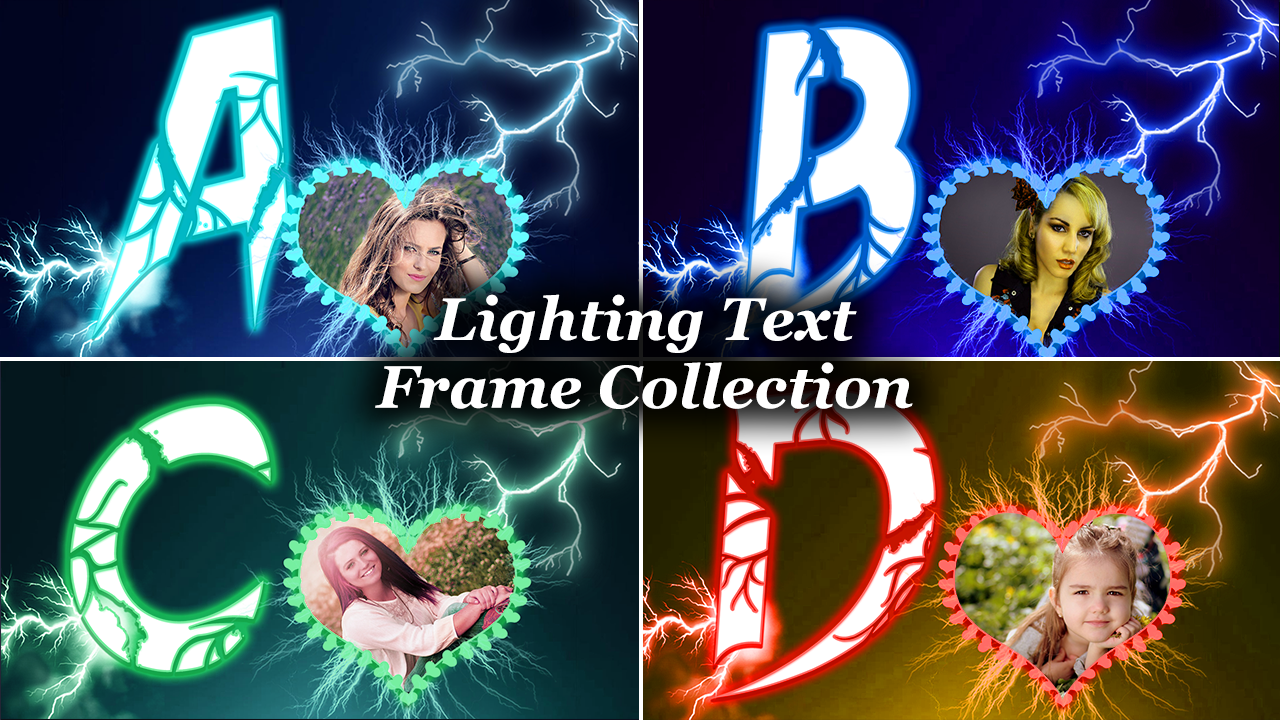 Lighting Text Frames Photo Editor- screenshot