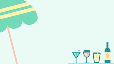 Cocktails Outdoors - Zoom Background template