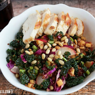 Grilled Chicken and Quinoa Salad with Apple-Cumin Vinaigrette