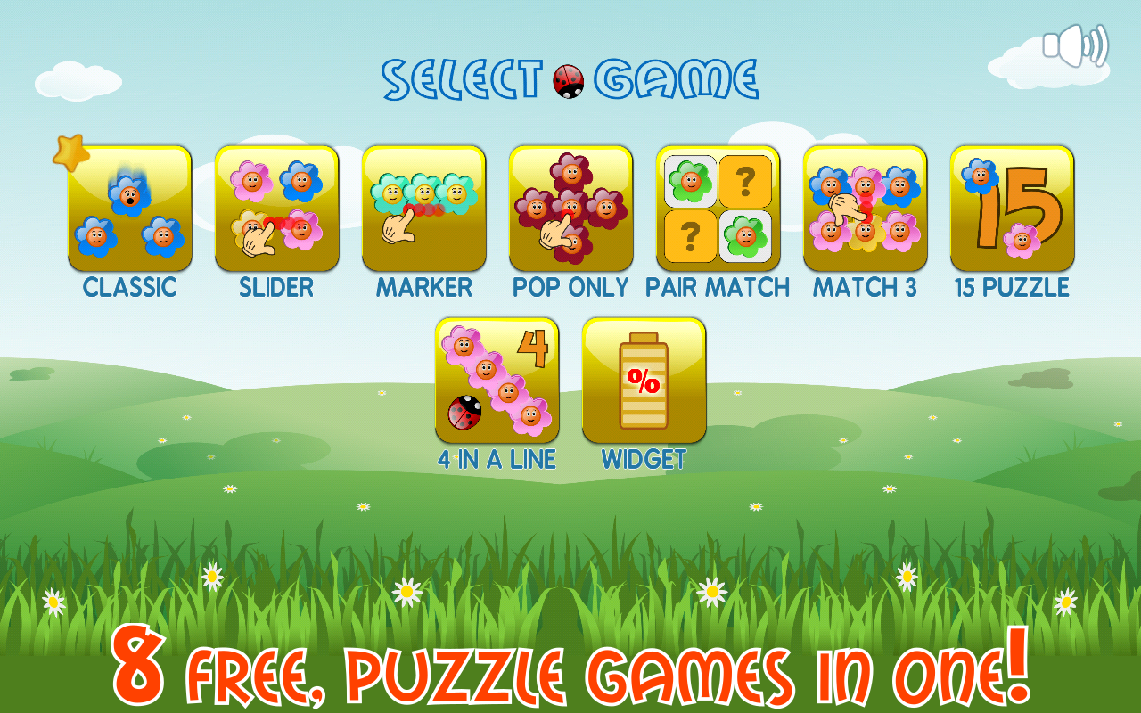 Flowers and Ladybug - match three puzzle game- screenshot