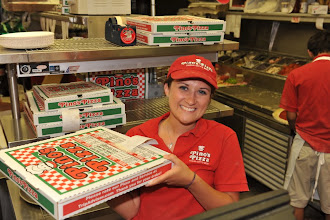 Photo: Lauren Freeman helps me with seeing to it that every order that leaves the shop is peRrRrRrrRrrfect :)  ---- Pino`s Pizza Ocean City Maryland ---- Call 410-723-FAST (3278)-----------81st street Coastal Highway 10 minute Carry-out, or Fast Delivery to all of Ocean City