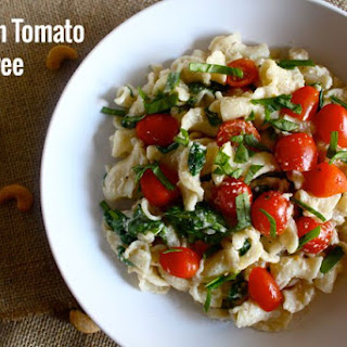 Homemade Cashew Cheese AND Spinach Tomato Dairy-Free Alfredo Sauce