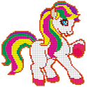 Pony Color by Number - Unicorn Pixel Art Coloring icon