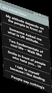 Girl Attitude Status - náhled
