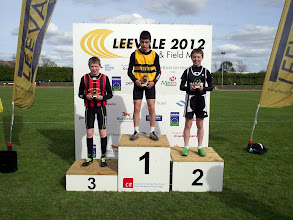 Photo: David Ryan, 3rd in Boys U/13 80m at Leevale Sports 2012