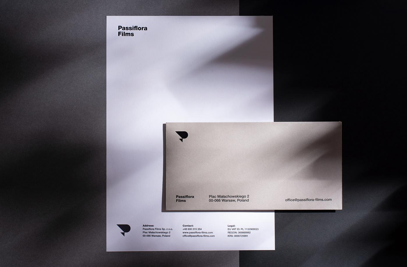 branding  minimal simple Production house logo print pattern poland gray