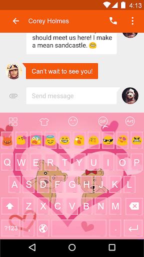 Cute Beer -Love Emoji Keyboard