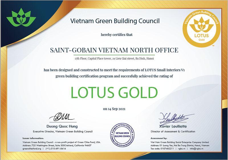 T:\Nha Dep\Up Web\1000 px\2021-10-08\Văn phòng Saint-Gobain đạt chứng nhận GOLD Lotus_H10.jpg