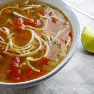Vermicelli, Meat and Tomato Soup (Shorbat bil Sharleya, Lahma wa Tomatum).