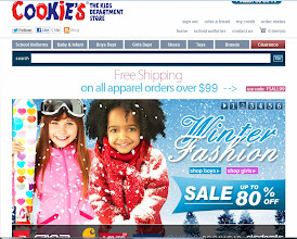 Photo: My daughter did help me shop. We were greeted on the Cookieskids.com site by a sign for their Winter Sale. Awesome!