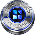 Next Launcher Theme Techno 3D Icon