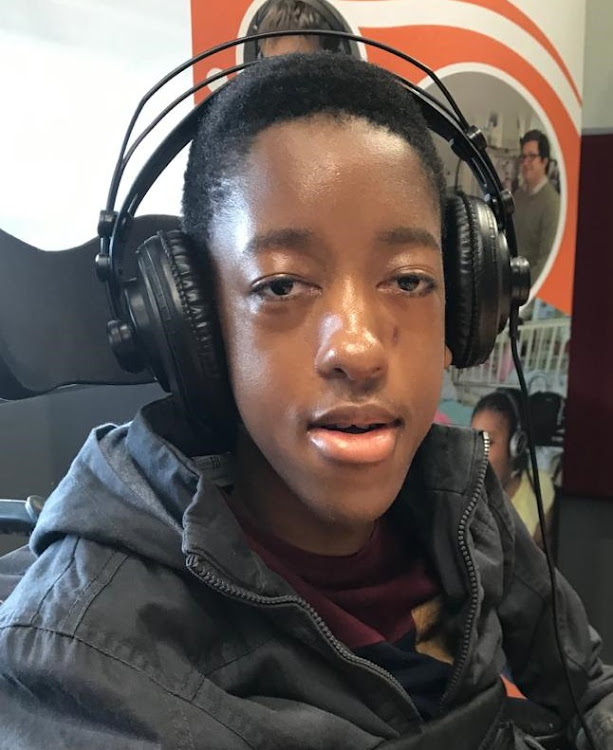 Luzuko Sonkapu, who has spinal muscular atrophy, says being able to express himself and be heard helped him to cope during the Covid-19 pandemic.