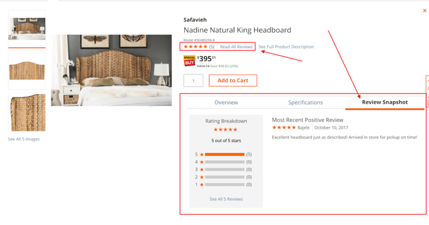 Magento eCommerce product page