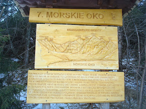 Photo: Docieramy nad Morskie Oko.