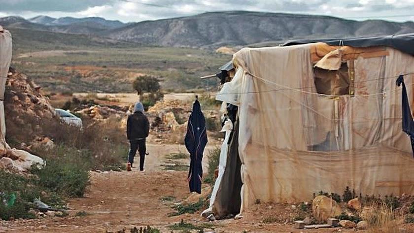 Un poblado de chabolas en la provincia.