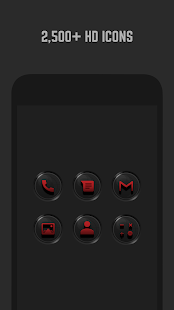 3D Black and Red Icon Pack- screenshot thumbnail