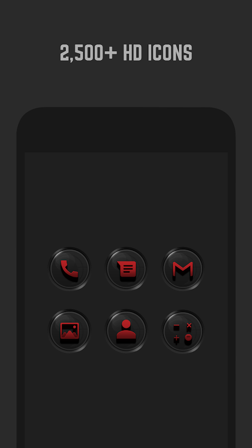3D Black and Red Icon Pack- screenshot