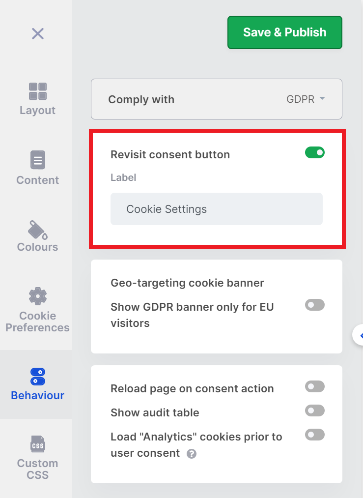 cookieyes banner withdraw cookie consent button