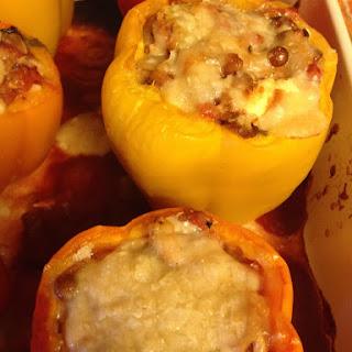 Skinny Cheesy Stuffed Peppers